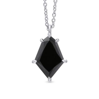 Natural Unheated Black Diamond Kite Shaped Solitaire Pendant 1954944