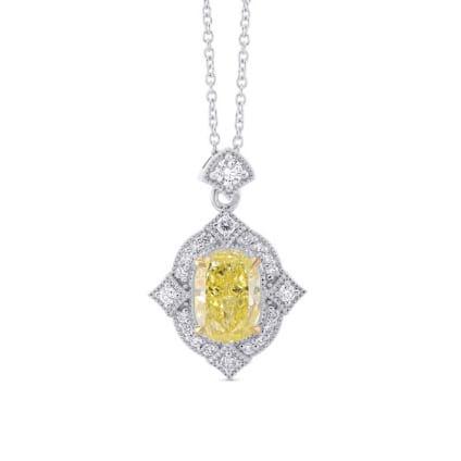 Подвеска, бриллиант Цвет: Желтый, Вес: 1.16 карат