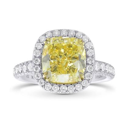 Кольцо, бриллиант Цвет: Желтый, Вес: 3.54 карат