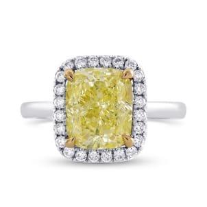 Кольцо, бриллиант Цвет: Желтый, Вес: 2.43 карат