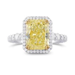 Fancy Light Yellow Radiant Diamond Halo Ring 2031720