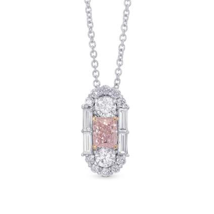 Extraordinary Fancy Light Pink Diamond Art Deco Pendant 2057172