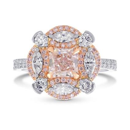 Кольцо, бриллиант Цвет: Розовый, Вес: 0.86 карат