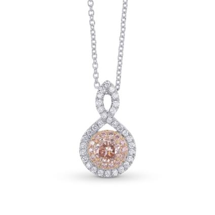 Fancy Pink Double Halo Crossover Pendant 2085204