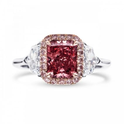 Кольцо, бриллиант Цвет: Красный, Вес: 1.32 карат