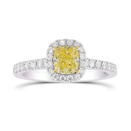 Кольцо, бриллиант Цвет: Желтый, Вес: 0.70 карат