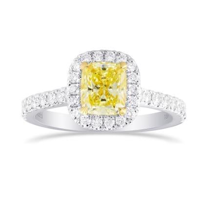 Кольцо, бриллиант Цвет: Желтый, Вес: 1.03 карат