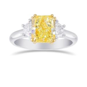 Fancy Light Yellow Radiant 3 Stones Diamond Ring 2138664