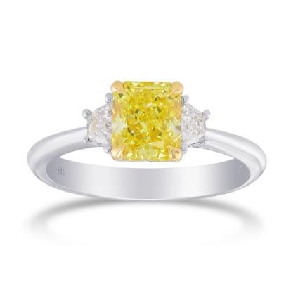 Кольцо, бриллиант Цвет: Желтый, Вес: 1.23 карат