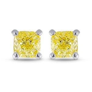 Серьги, бриллиант Цвет: Желтый, Вес: 0.57 карат