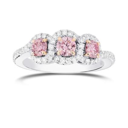 Argyle Fancy Pink Diamond 3 Stone Ring 2200344