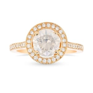 Rose Gold Fancy White Diamond Engagement Ring 2215392