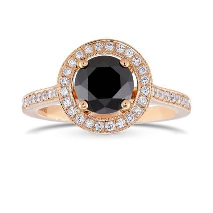 Кольцо, бриллиант Цвет: Черный, Вес: 1.24 карат