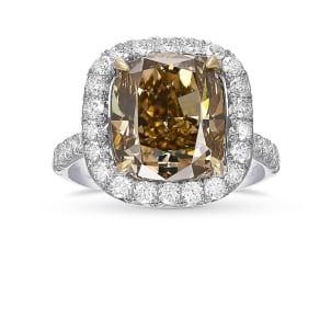 Кольцо, бриллиант Цвет: Коричневый, Вес: 5.07 карат