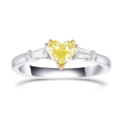 Кольцо, бриллиант Цвет: Желтый, Вес: 0.73 карат