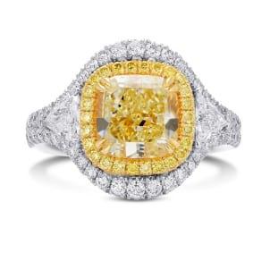 Кольцо, бриллиант Цвет: Желтый, Вес: 3.28 карат