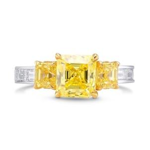 Кольцо, бриллиант Цвет: Желтый, Вес: 2.81 карат