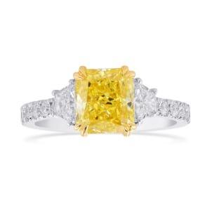 Кольцо, бриллиант Цвет: Желтый, Вес: 1.55 карат