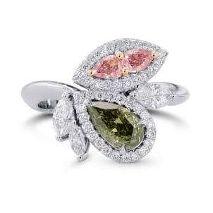 Asymmetrical Couture Color Diamond Ring 2300796