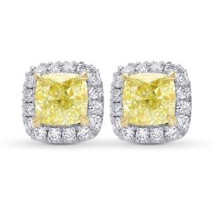 Серьги, бриллиант Цвет: Желтый, Вес: 1.19 карат