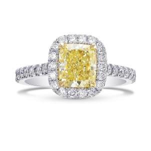 Кольцо, бриллиант Цвет: Желтый, Вес: 1.51 карат