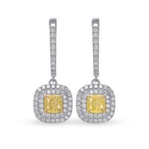 Серьги, бриллиант Цвет: Желтый, Вес: 1.22 карат