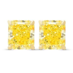 Серьги, бриллиант Цвет: Желтый, Вес: 1.08 карат
