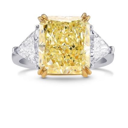 Кольцо, бриллиант Цвет: Желтый, Вес: 5.01 карат