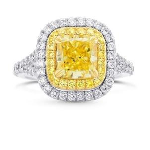 Кольцо, бриллиант Цвет: Желтый, Вес: 2.05 карат