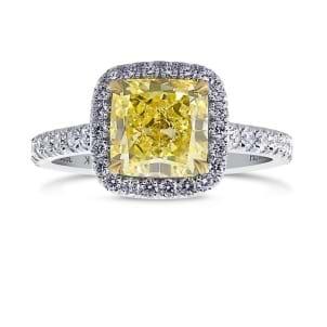Кольцо, бриллиант Цвет: Желтый, Вес: 2.24 карат