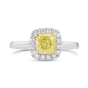 Кольцо, бриллиант Цвет: Желтый, Вес: 1.18 карат