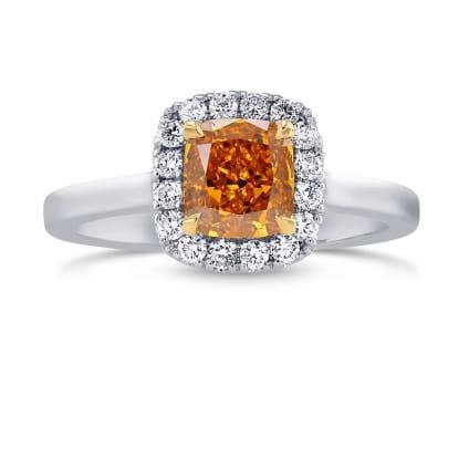 Кольцо, бриллиант Цвет: Оранжевый, Вес: 1.07 карат