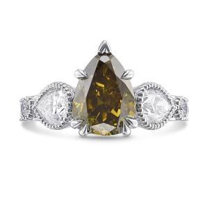 Кольцо, бриллиант Цвет: Хамелеон, Вес: 2.57 карат
