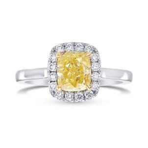 Кольцо, бриллиант Цвет: Желтый, Вес: 1.30 карат