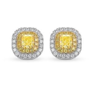 Серьги, бриллиант Цвет: Желтый, Вес: 1.02 карат