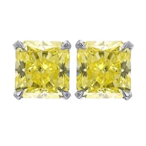 Серьги, бриллиант Цвет: Желтый, Вес: 1.40 карат