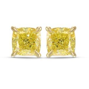 Серьги, бриллиант Цвет: Желтый, Вес: 2.05 карат