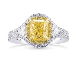 Кольцо, бриллиант Цвет: Желтый, Вес: 1.67 карат