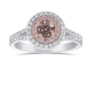 Кольцо, бриллиант Цвет: Розовый, Вес: 0.21 карат