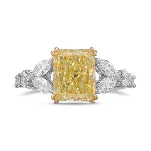 Кольцо, бриллиант Цвет: Желтый, Вес: 3.01 карат