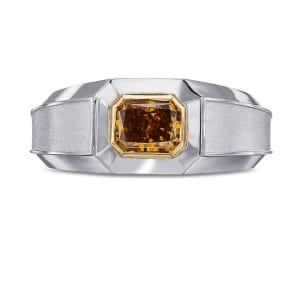 Кольцо, бриллиант Цвет: Оранжевый, Вес: 1.11 карат