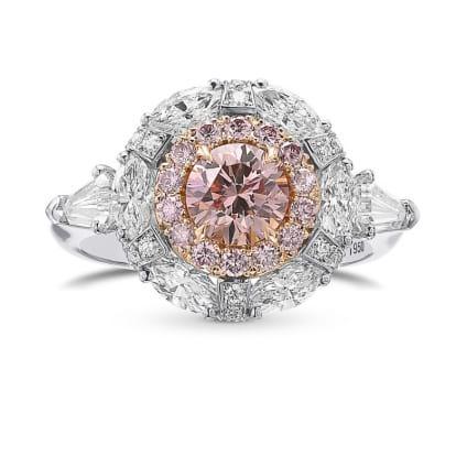 Кольцо, бриллиант Цвет: Розовый, Вес: 0.73 карат