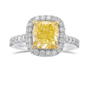 Кольцо, бриллиант Цвет: Желтый, Вес: 2.11 карат