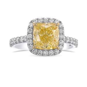 Кольцо, бриллиант Цвет: Желтый, Вес: 2.50 карат
