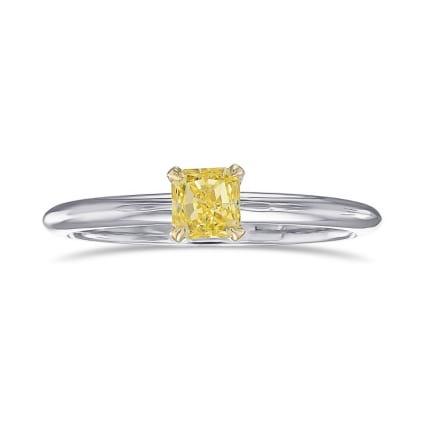 Кольцо, бриллиант Цвет: Желтый, Вес: 0.37 карат