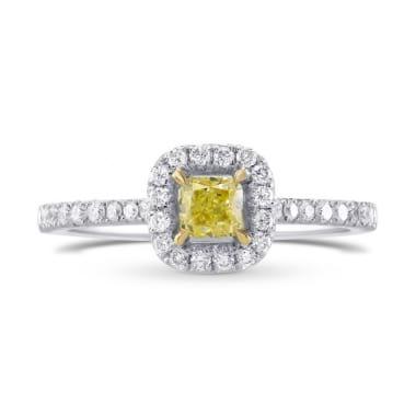 Fancy Yellow Radiant Diamond Halo Ring 358332