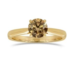Fancy Dark Orange Brown Diamond Solitaire engagement ring 404736