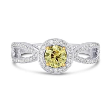 Кольцо, бриллиант Цвет: Желтый, Вес: 0.60 карат