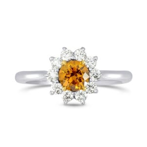 Fancy Deep Brownish Yellowish Orange Round Brilliant Diamond Ring 429930