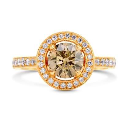 Кольцо, бриллиант Цвет: Коричневый, Вес: 1.08 карат
